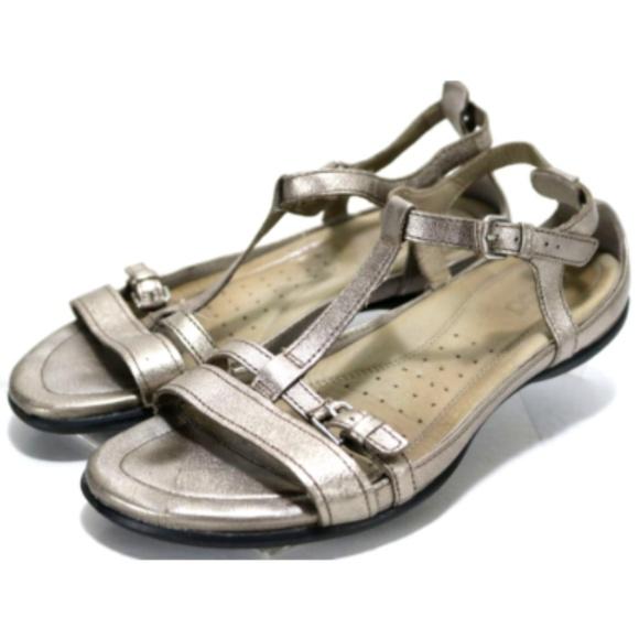 94ab6decee ECCO Women's Babett Sandals Size 8.5 Metallic
